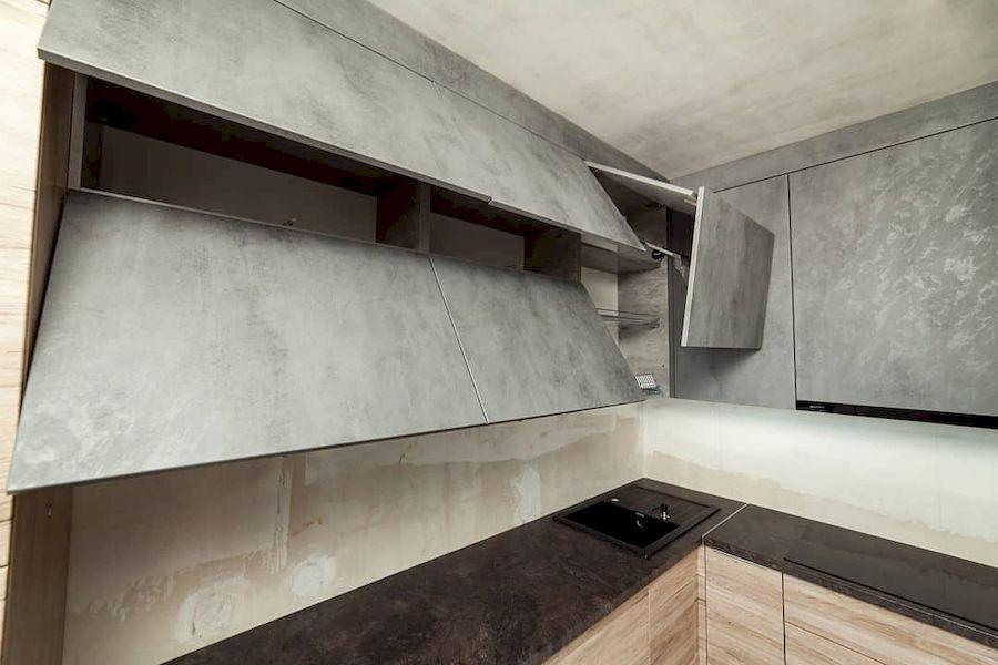 Высокие кухни под потолок-Кухня из ЛДСП «Модель 643»-фото9