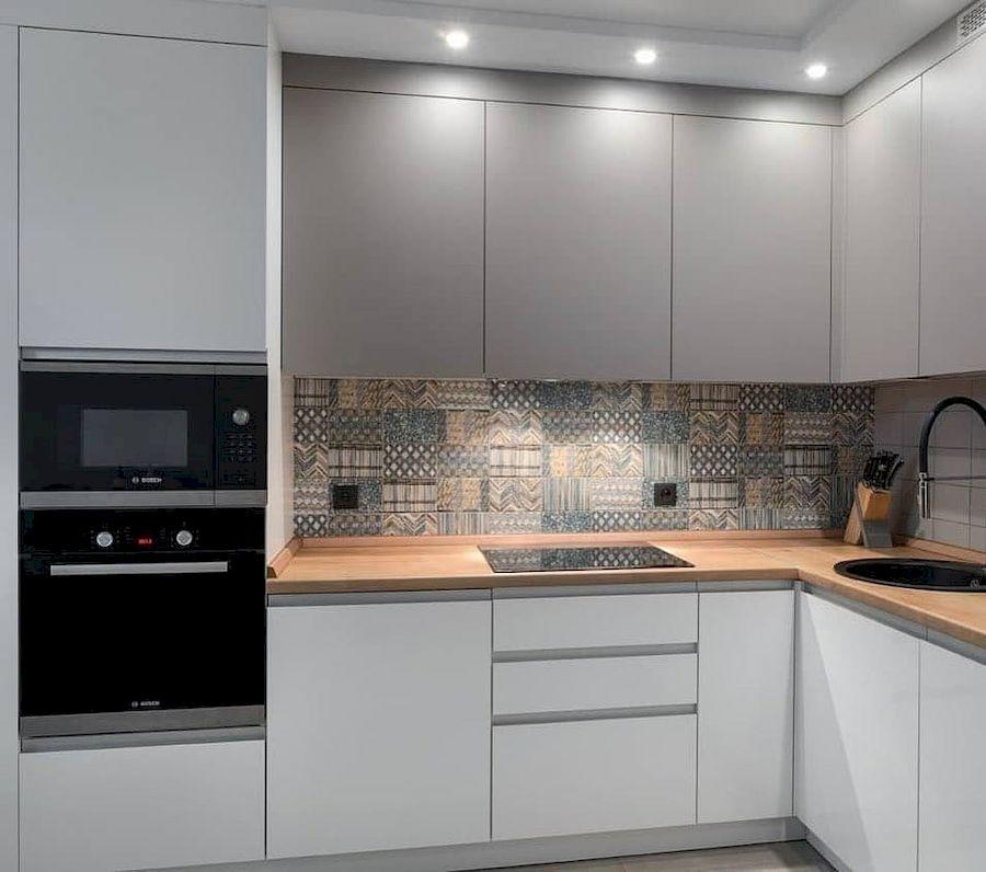 Белый кухонный гарнитур-Кухня МДФ в эмали «Модель 637»-фото2