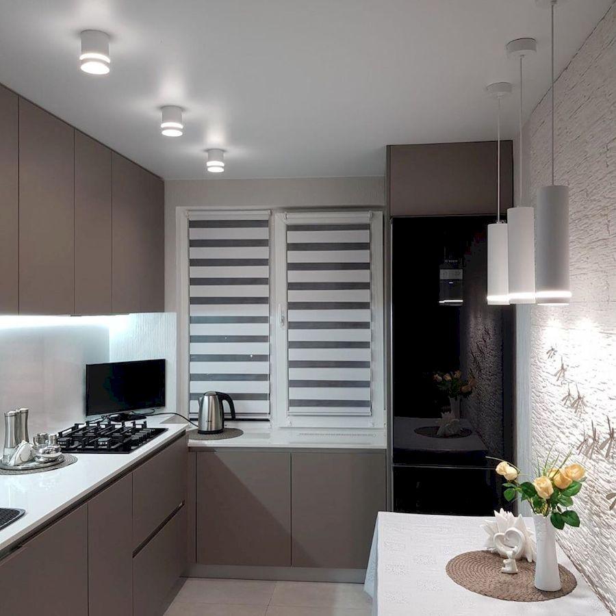 Встроенная кухня-Кухня МДФ в ПВХ «Модель 659»-фото1