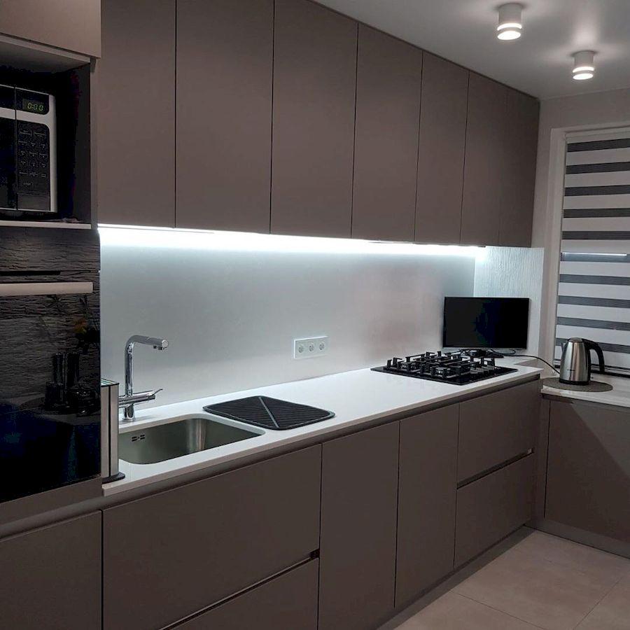Встроенная кухня-Кухня МДФ в ПВХ «Модель 659»-фото2