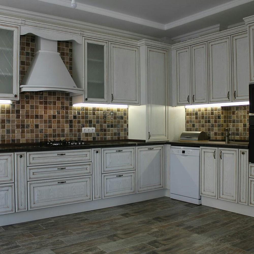 Акриловые кухни-Кухня из пластика «Модель 136»-фото3