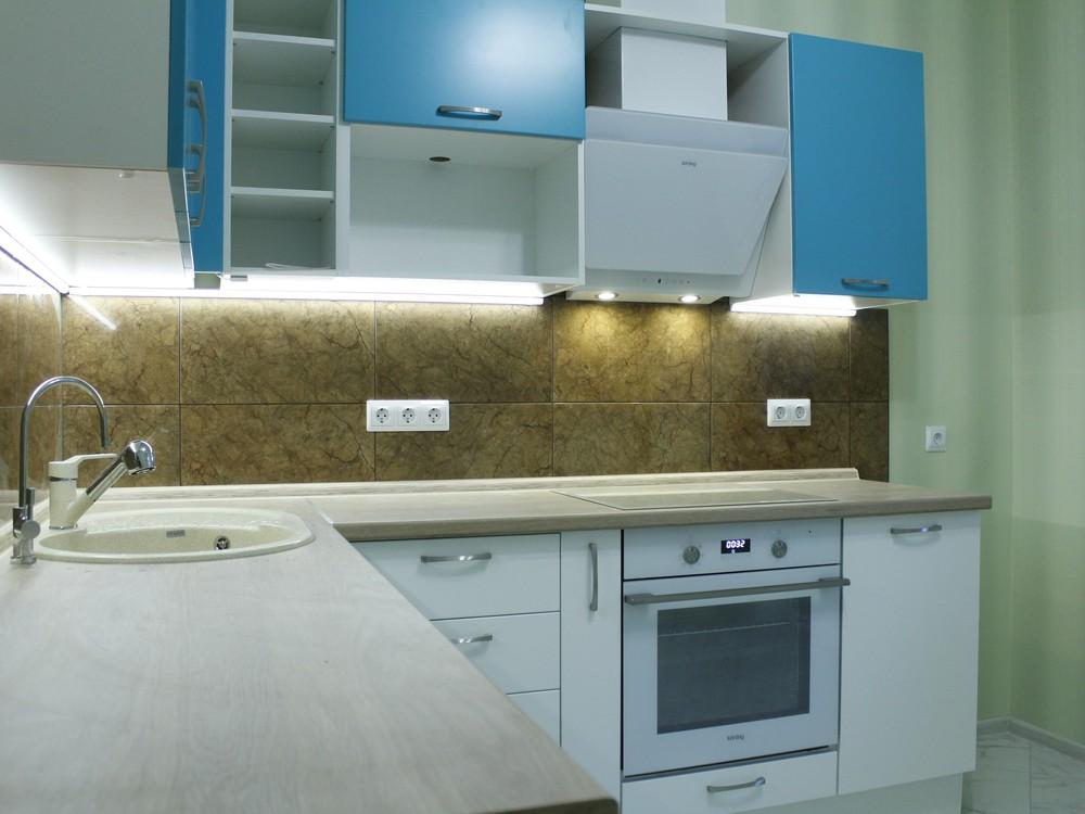 Встроенная кухня-Кухня МДФ в ПВХ «Модель 162»-фото2