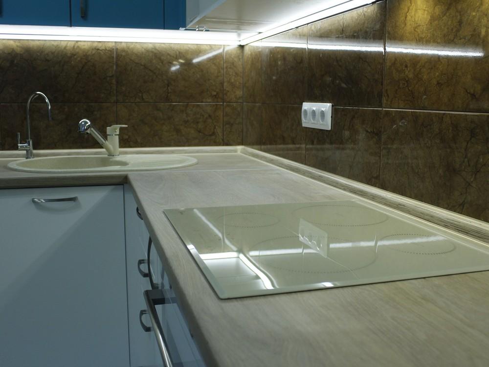 Встроенная кухня-Кухня МДФ в ПВХ «Модель 162»-фото4