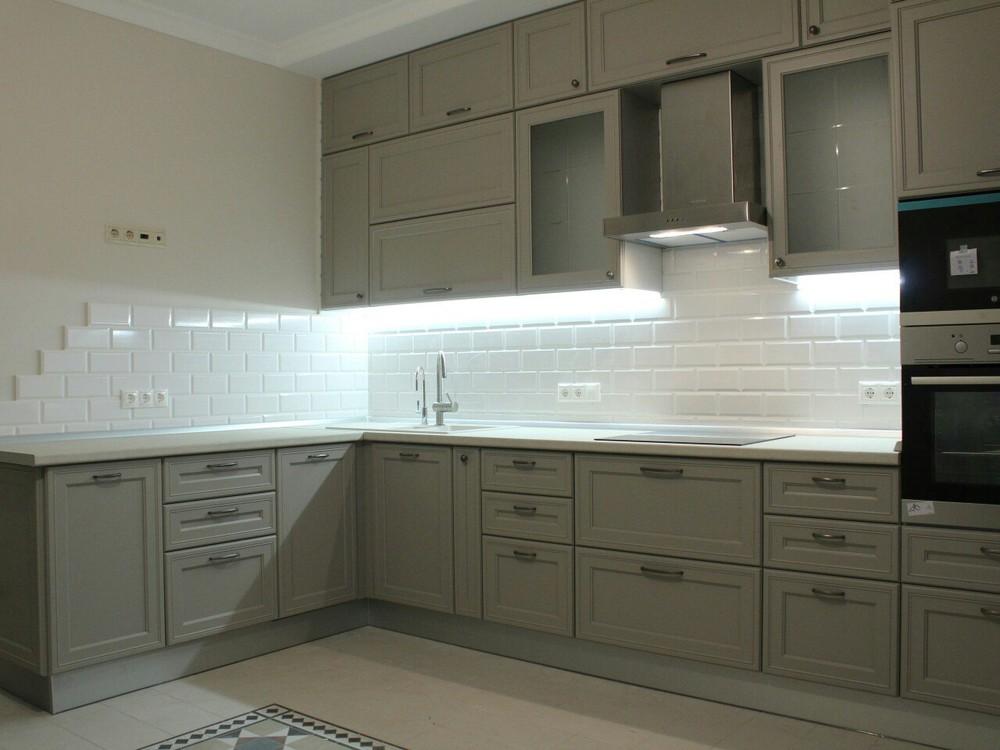 Встроенная кухня-Кухня МДФ в ПВХ «Модель 84»-фото1
