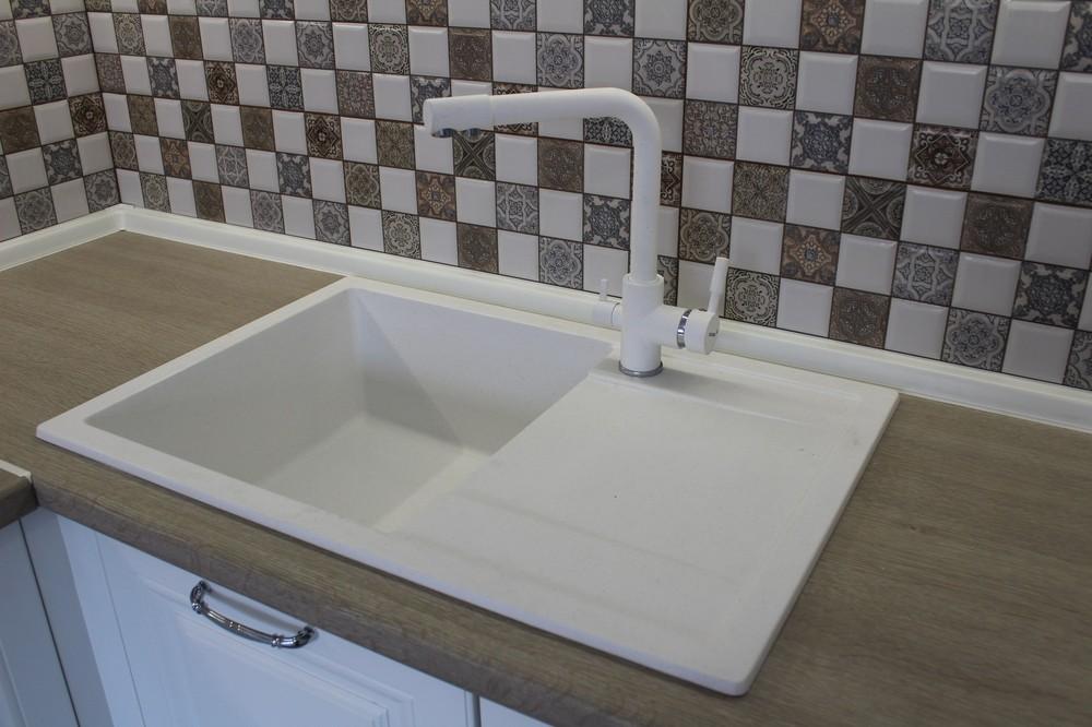 Белый кухонный гарнитур-Кухня МДФ в ПВХ «Модель 82»-фото6