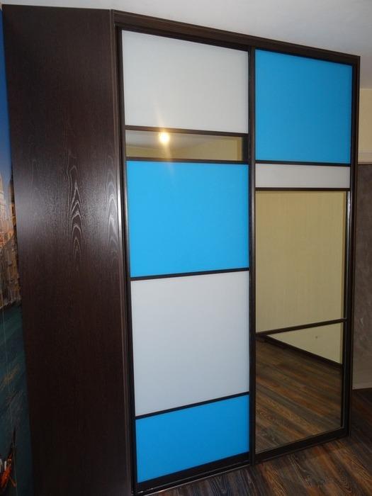 Встроенные шкафы-купе-Шкаф-купе с зеркалом «Модель 45»-фото2