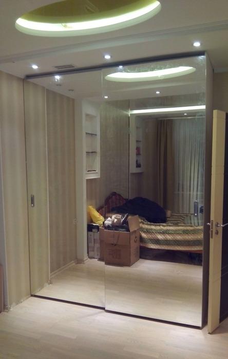 Большой шкаф-купе-Шкаф-купе с зеркалом «Модель 69»-фото1