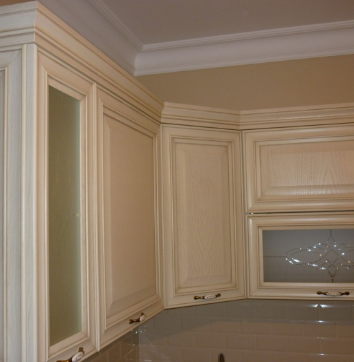 Белый кухонный гарнитур-Кухня МДФ в ПВХ «Модель 223»-фото5