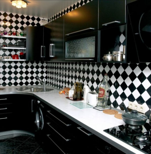 Встроенная кухня-Кухня МДФ в ПВХ «Модель 372»-фото7