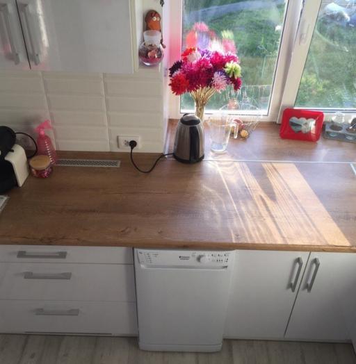 Белый кухонный гарнитур-Кухня из пластика «Модель 385»-фото2