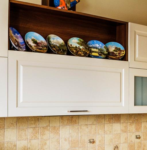 Белый кухонный гарнитур-Кухня МДФ в эмали «Модель 408»-фото4
