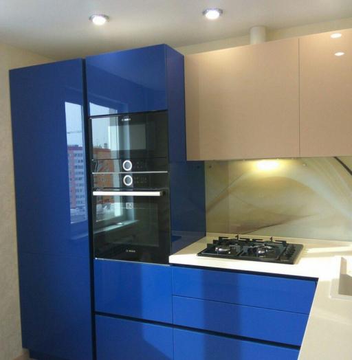 Акриловые кухни-Кухня МДФ в эмали «Модель 164»-фото4