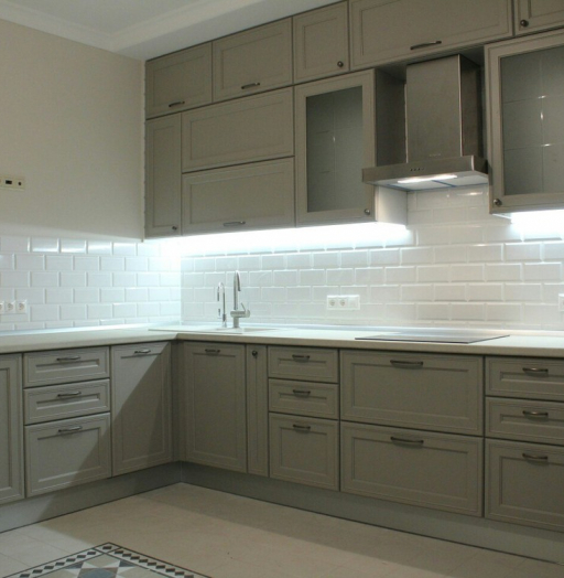 Встроенная кухня-Кухня МДФ в ПВХ «Модель 84»-фото5