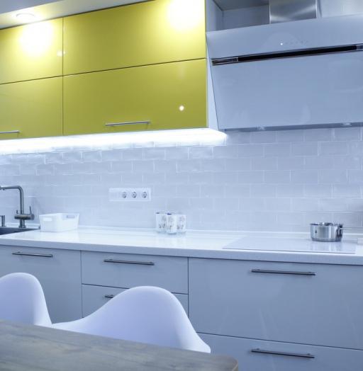 Встроенная кухня-Кухня МДФ в эмали «Модель 200»-фото5