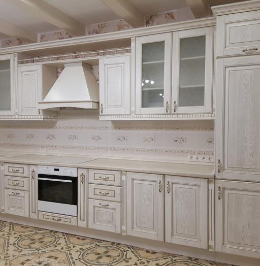 Белый кухонный гарнитур-Кухня из массива «Модель 24»-фото3