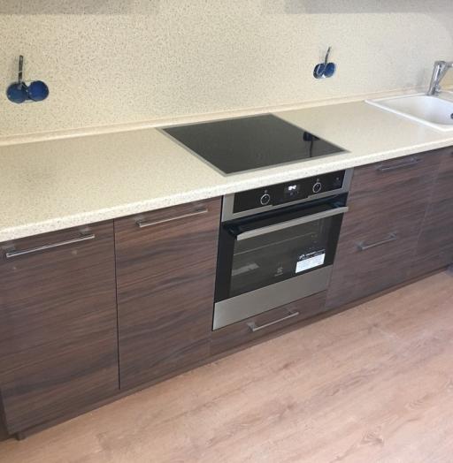 Встроенная кухня-Кухня МДФ в шпоне «Модель 317»-фото10