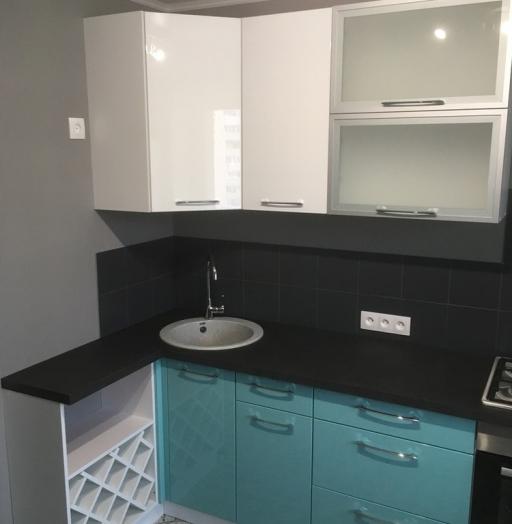 Белый кухонный гарнитур-Кухня МДФ в ПВХ «Модель 320»-фото10