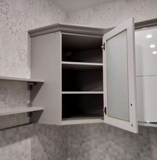 Белый кухонный гарнитур-Кухня МДФ в ПВХ «Модель 525»-фото10
