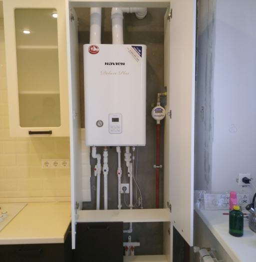 Белый кухонный гарнитур-Кухня МДФ в ПВХ «Модель 545»-фото9