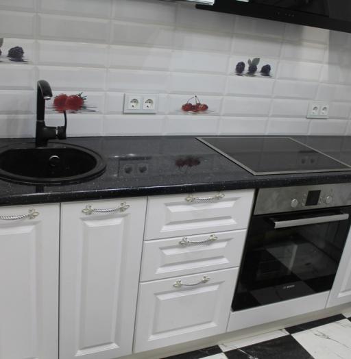 Белый кухонный гарнитур-Кухня МДФ в ПВХ «Модель 332»-фото5