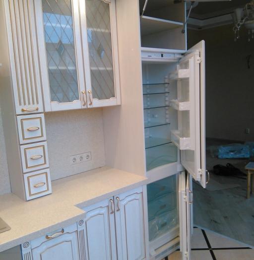 Белый кухонный гарнитур-Кухня из шпона «Модель 341»-фото8