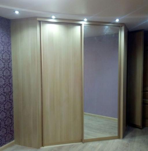 Гардеробные шкафы-купе-Шкаф-купе с зеркалом «Модель 221»-фото3