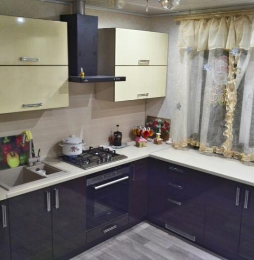 Кухни на заказ-Кухня из шпона «Модель 344»-фото6
