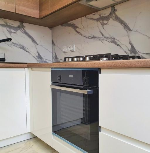Белый кухонный гарнитур-Кухня МДФ в эмали «Модель 529»-фото7