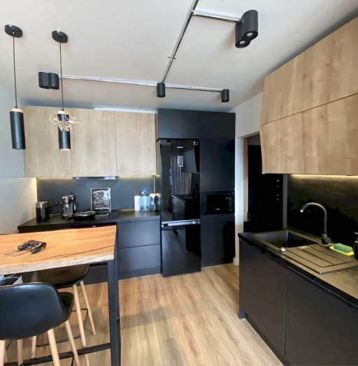 Встроенная кухня-Кухня МДФ в эмали «Модель 589»-фото5