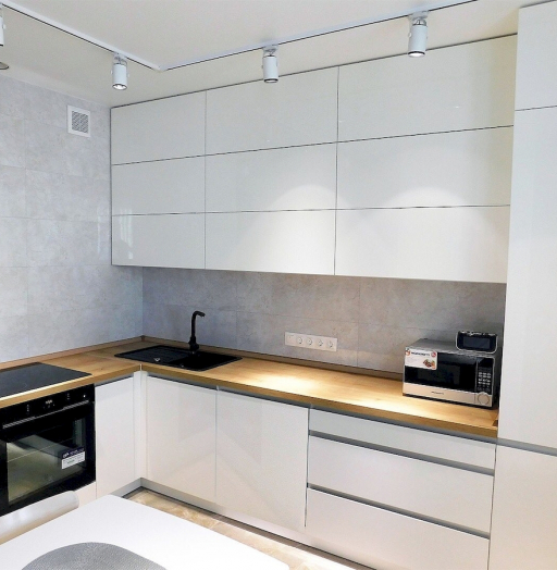 Белый кухонный гарнитур-Кухня МДФ в эмали «Модель 593»-фото7